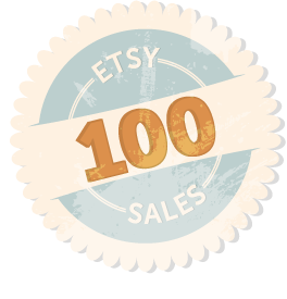 100 Etsy Sales Badge