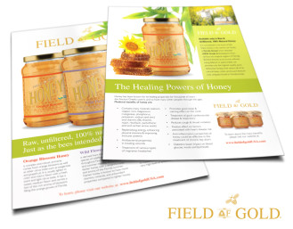 field of gold honey flyer