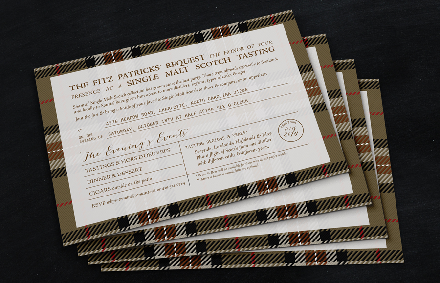 Scotch Tasting Invitation