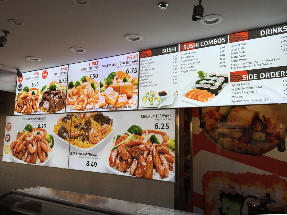 Fresh Japanese Menu Board Design